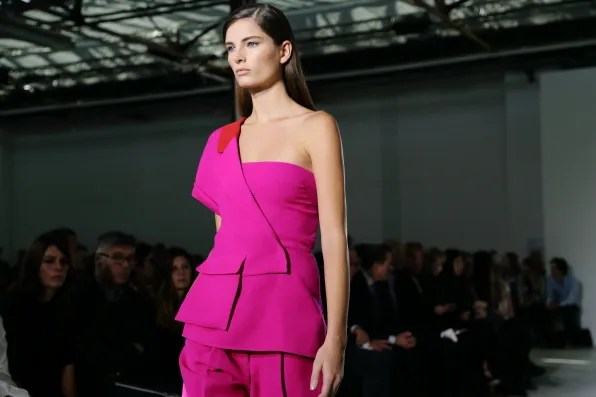 Fuschia pink look from Costume National spring summer 2013