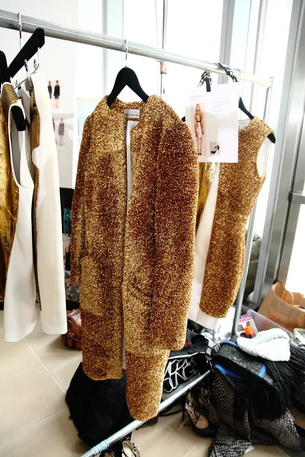 gold coat from prabal gurung fall/winter 2012