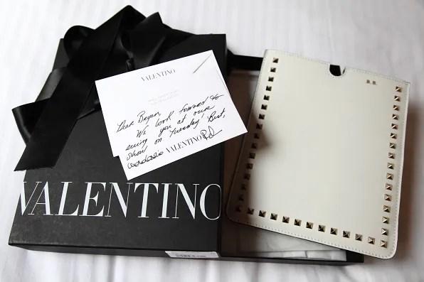 White Valentino iPad case