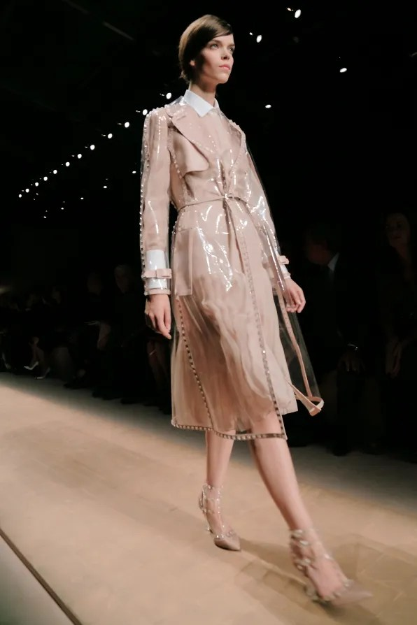 Transparent Valentino trench coat from spring summer 2013 fashion show