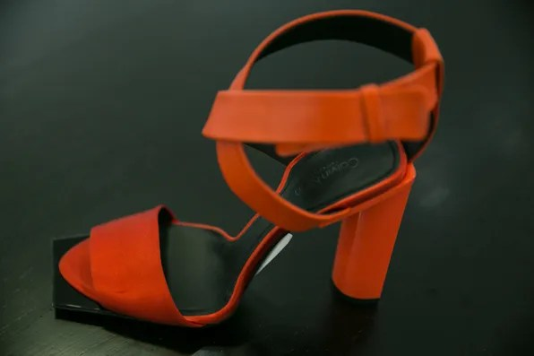 Red sandal from Calvin Klein Collection Resort 2014