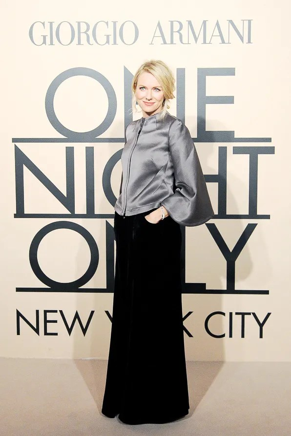 Naomi Watts at the Giorgio Armani One Night Only New York City event