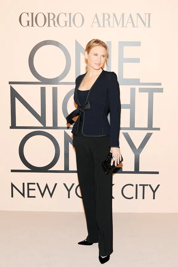 Renee Zellweger at Giorgio Armani One Night Only New York City event