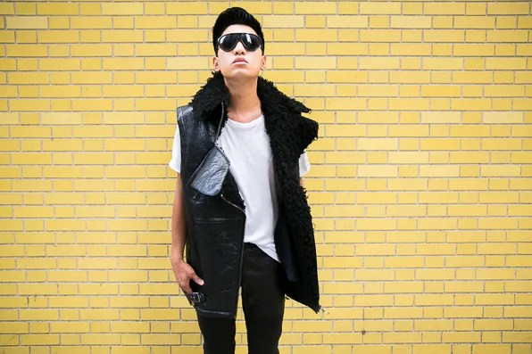 Bryanboy in H&M Paris Runway Fall collection