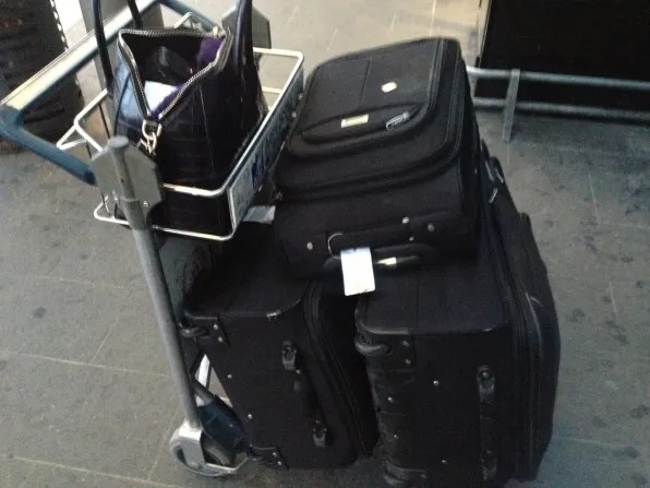 Bryanboy's luggage at Florence Airport