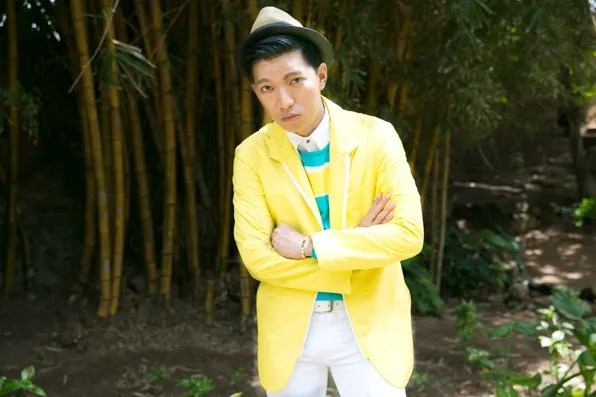 Bryanboy wearing a Salvatore Ferragamo jacket from Spring Summer 2013 collection
