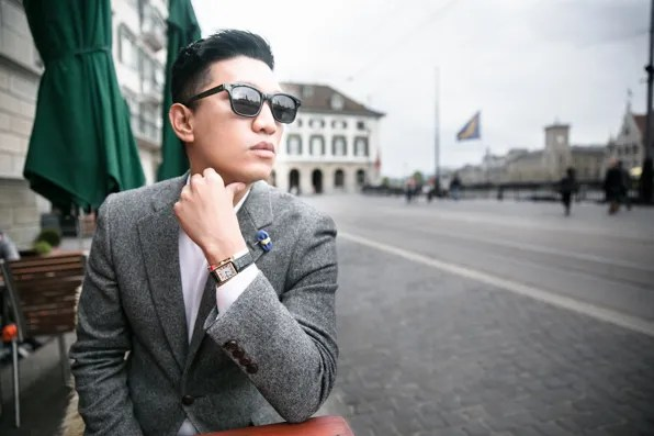 Bryanboy sporting a Cartier Watch in Zurich, Switzerland