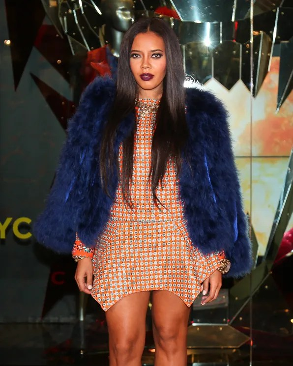 Angela Simmons attends the Just Cavalli NYC Store Opening