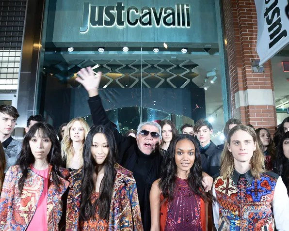 Roberto Cavalli at Just Cavalli NYC Store Opening with his Pre-Fall 2014 collection