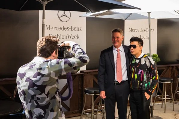 Andrew Stoner and Bryanboy at Mercedes-Benz Fashion Week Australia 2013