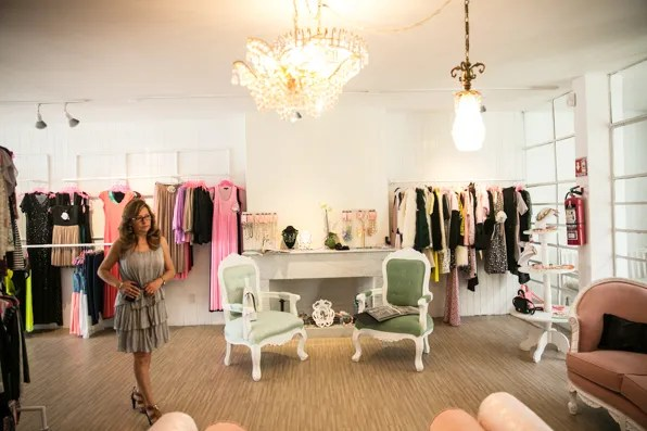 Patricia Wong at Pink Magnolia showroom in Mexico City