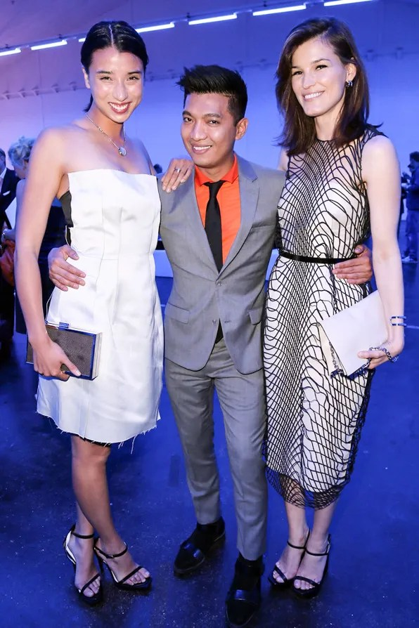 Lily Kwong, Bryanboy and Hanneli Mustaparta at Calvin Klein party BaselWorld 2013