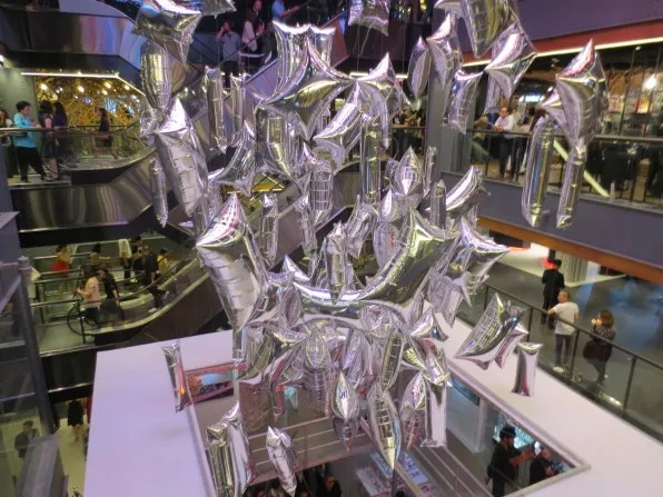 Silver balloons at Siam Center Bangkok