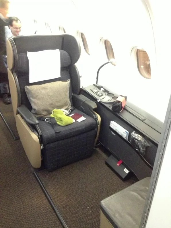 Seat 1A from Zurich to Bangkok