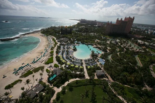 View from Bryanboy's Balcony at the Cove Atlantis, Bahamas
