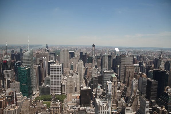 Midtown Manhattan and Uptown, view of New York Skyline from Empire State Building