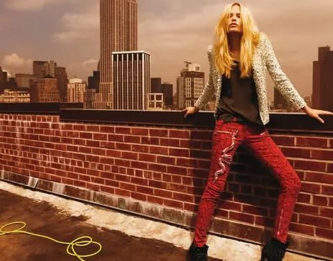Balmain fall/winter 2008-2009 ad campaign featuring Natasha Poly