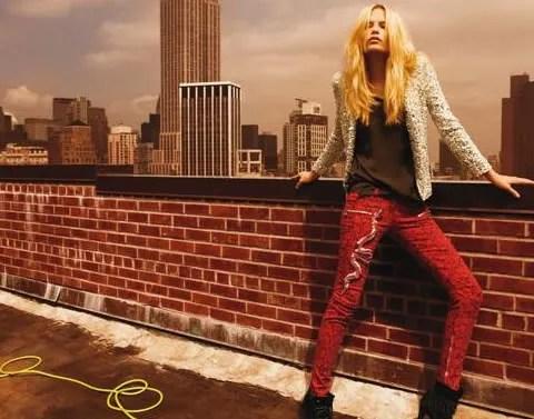 Balmain fall/winter 2008-2009 ad campaign featuring Natasha Poly