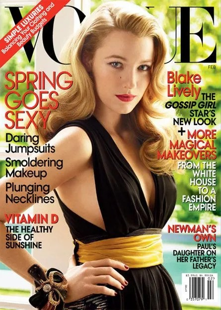Vogue cover girl Blake Lively, February 2009; image courtesy of bryanboy.com
