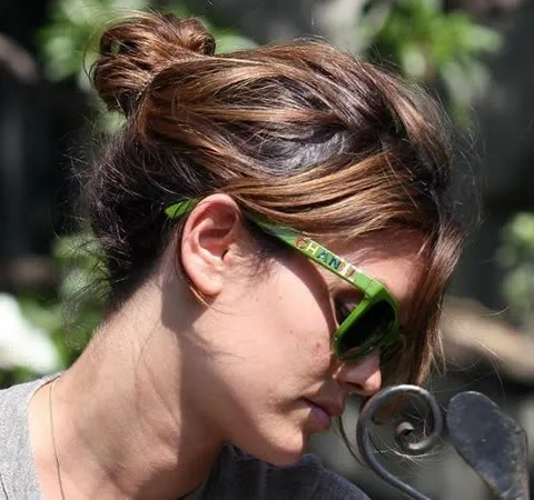 Rachel Bilson, Chanel green wayfarers