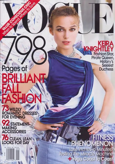Keira Knightley, Vogue USA September 2008 Cover - in Balenciaga
