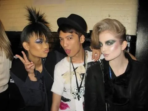 Chanel Iman, Eniko, Bryanboy at Marc Jacobs backstage