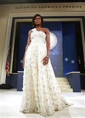 Michelle Obama's inauguration ball dress by Jason Wu.