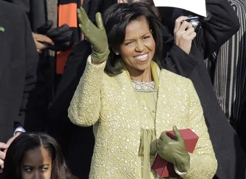 Michelle Obama's dress on Inauguration day by Isabel Toledo.