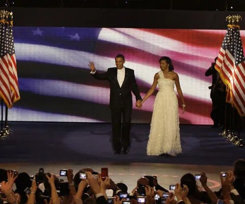Michelle Obama's Inauguration Ball dress by designer Jason Wu.