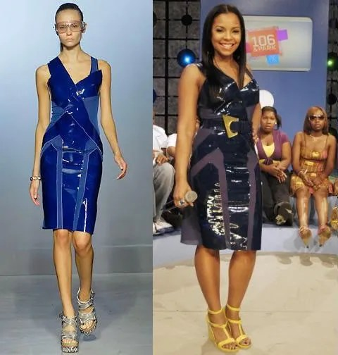 Natasha Poly, Ashanti, Balenciaga Dress