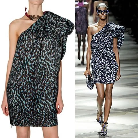 Lanvin Spring 2009 dress leopard print