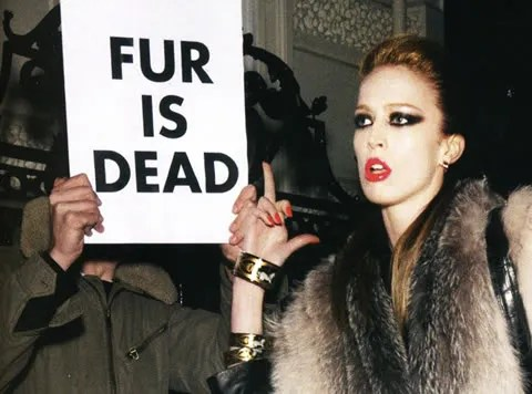 Vogue Paris August 2008, Raquel Zimmermann Anti fur Anti PETA
