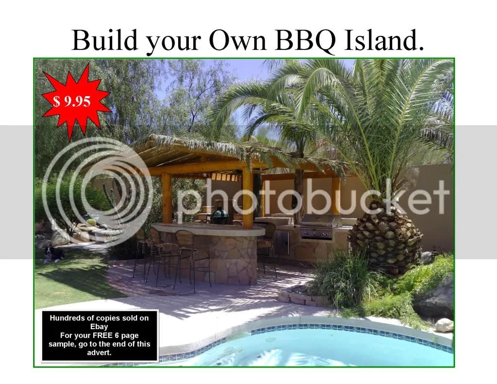 DIY BBQ Island Plans, How to build a BBQ Island, Build an ... on Diy Patio Grill Island id=50608