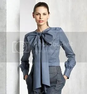 Pussy Bow Shirt Blouse Marks & Spencer