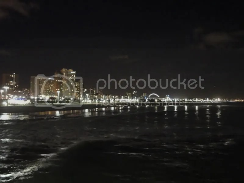 Durban North Beach at night