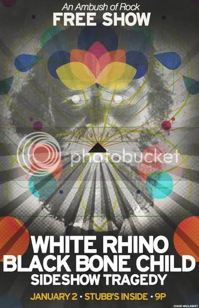 white rhino/black bone child at stubb's