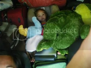 That's our backseat.  Our daughter is back there somewhere.