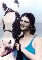 Sonora Carver was the most famous rider of the diving horses. She became blind after a dive caused her retinas to detach but continued diving for many more years.