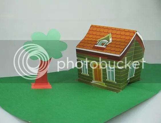 3D Paperpacraft Kerajinan Kertas Pop Rumah Lipat