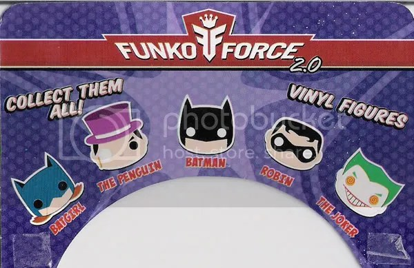 SDCC DC Funko Force 2 Batgirl card back