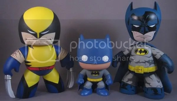 SDCC DC Funko Force 2 Batman Comparison 2