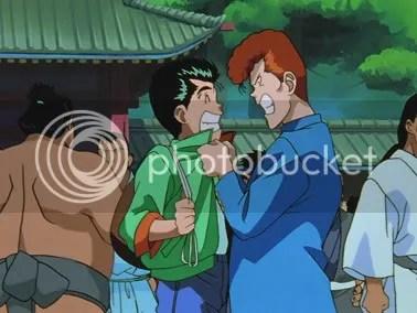 Yusuke, Kuwabara e E. Honda(?)