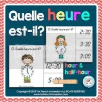 Quelle heure est-il? Clip Cards - For French Immersion