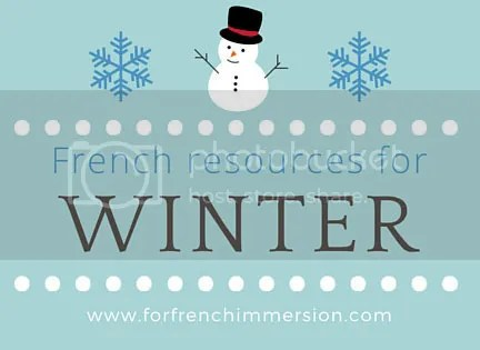 French Winter Resources for your Classroom