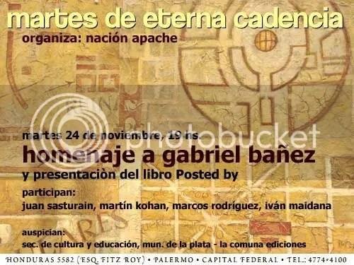 Homenaje a Gabriel Bañez