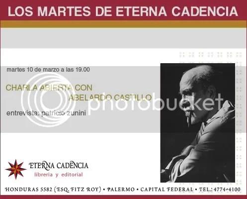 Martes 10 de Marzo: Charla Abierta con Abelardo Castillo