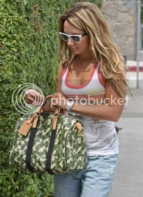 Ashley Tisdale's Monogramouflage Speedy
