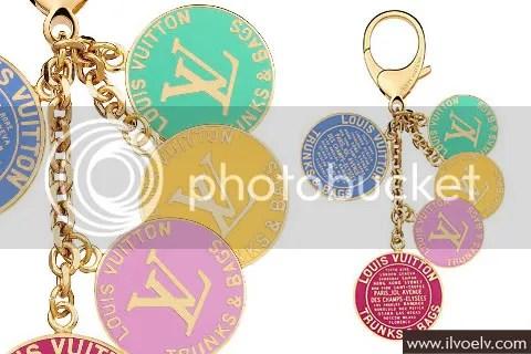 Louis Vuiton Globe Charm Key Ring