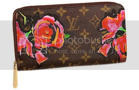 Louis Vuitton Monogram Roses Zippy Wallet