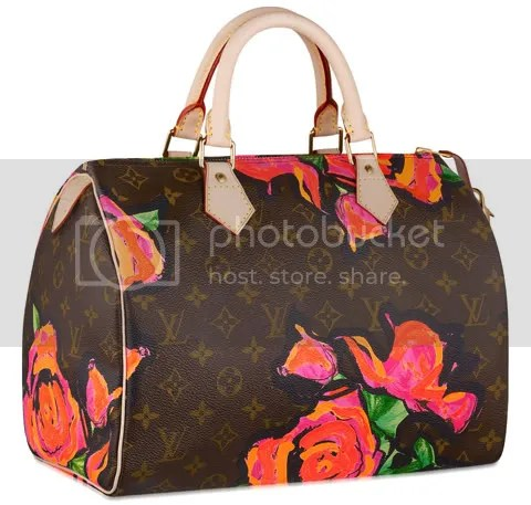 Louis Vuitton Monogram Roses Speedy